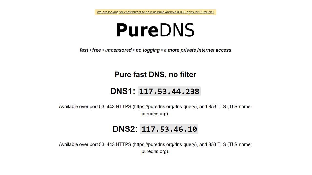 Akses Internet Yang Lebih Pribadi Dengan PureDNS
