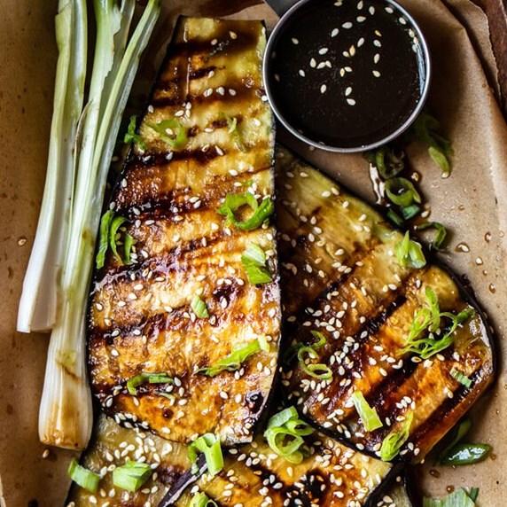 Vegan Teriyaki Grilled Eggplant #vegandinner #vegetarian