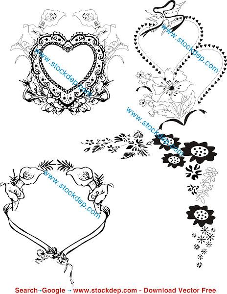 Họa tiết hoa văn thiệp cưới miễn phí