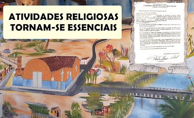 Câmara reconhece atividades de igrejas como essenciais