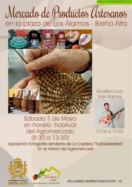 El Mercado de Productos Artesanos de Breña Alta  se abre este sábado al Parque de Los Álamos con  actividades de dinamización