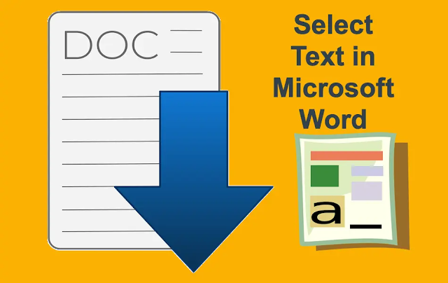 SELECTING TEXT IN WORD (SHOWING TEXT)