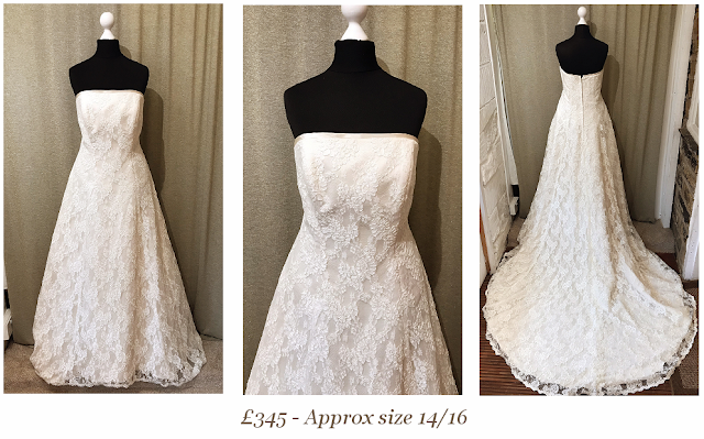 strapless full train beautiful lace vintage wedding dress from vintage lane bridal boutique bolton
