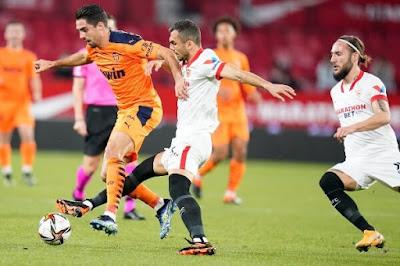 ملخص واهداف مباراة اشبيلية وفالنسيا (3-0) كاس ملك اسبانيا