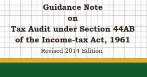 REVISED GUIDANCE NOTE ON TAX AUDIT UNDER SECTION 44AB OF THE