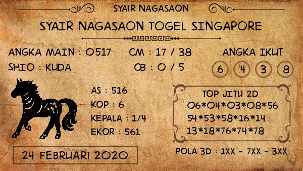Prediksi Togel JP Singapura 24 Februari 2020 - Prediksi Nagasaon