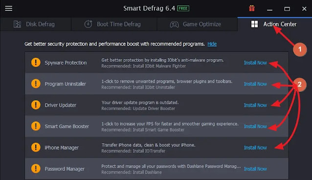 برنامج smart defrag لاعادة تنظيم بيانات الهارد ليجعله اسرع ويطيل عمر الهارد ديسك