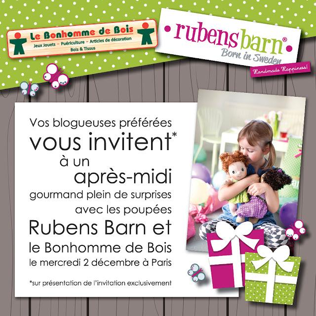 Gagnez un après midi gourmand avec les poupées Rubens Barn