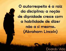 Sem disciplina não há liberdade