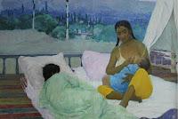 Uzbekistan, Tashkent, State Museum Of Arts, Maternity. Morning, Akhmedov R.A., topchan, © L. Gigout, 2012