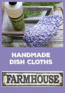 Handmade Cotton Dish Cloths Washcloths
