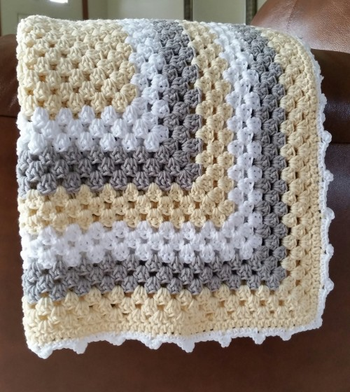 Neutral Baby Blanket - Free Pattern