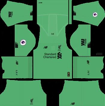 Download Kit DLS Liverpool GoalKeeper Away 2019 - 2020
