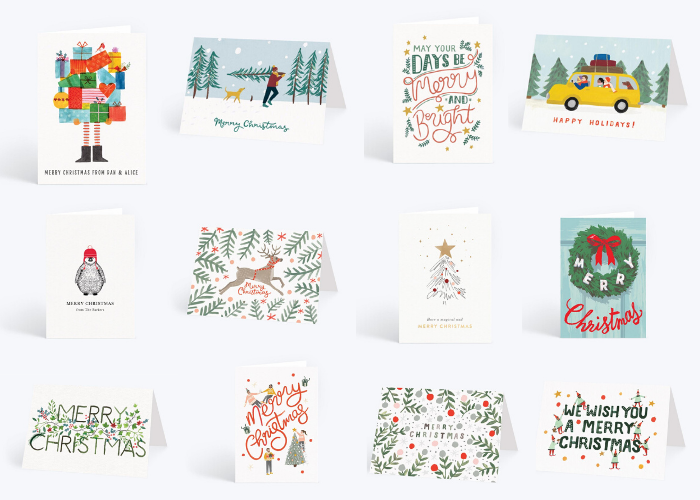 A roundup of my favourite Christmas cards from Papier.