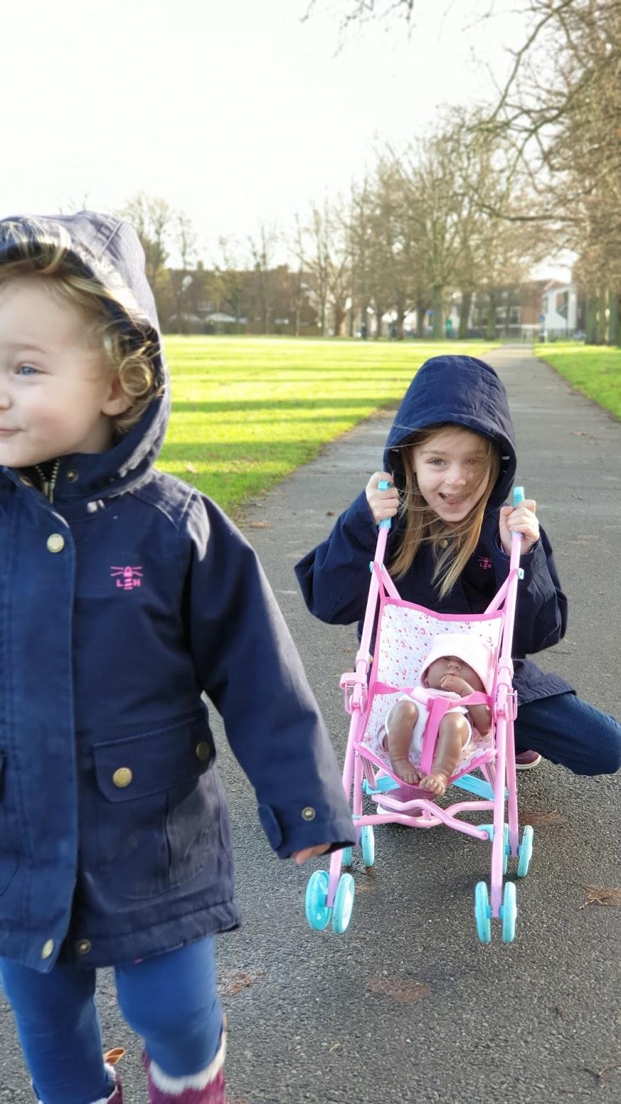 sisters at park