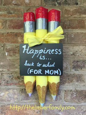 Blog With Friends, multiple projects based on the theme Happiness Happens Day | Happiness is Back to School Wall or Door Decoration by Rabia of The Lieber Family Blog | Presented on www.BakingInATornado