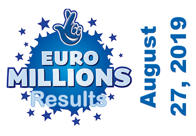 EuroMillions Results for Tuesday, August 27, 2019