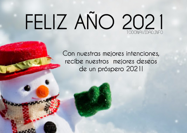 Felices fiestas y un venturoso Año 2021