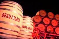 Бочки с вином Beaujolais Nouveau