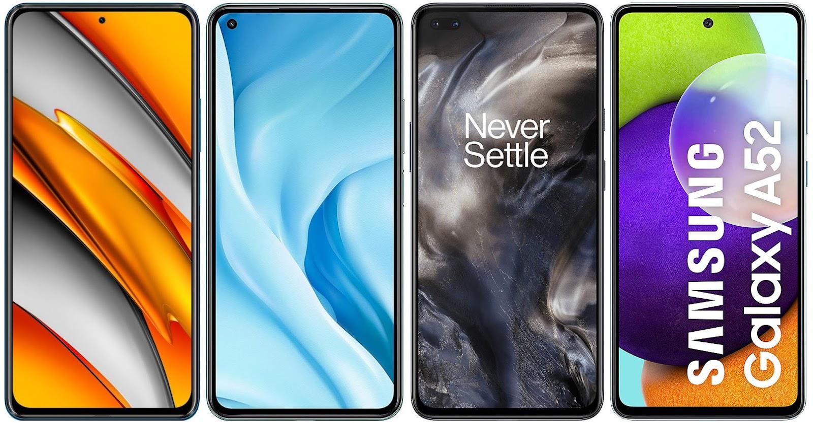 Xiaomi POCO F3 vs Xiaomi Mi 11 Lite 5G vs OnePlus Nord vs Samsung Galaxy A52 4G