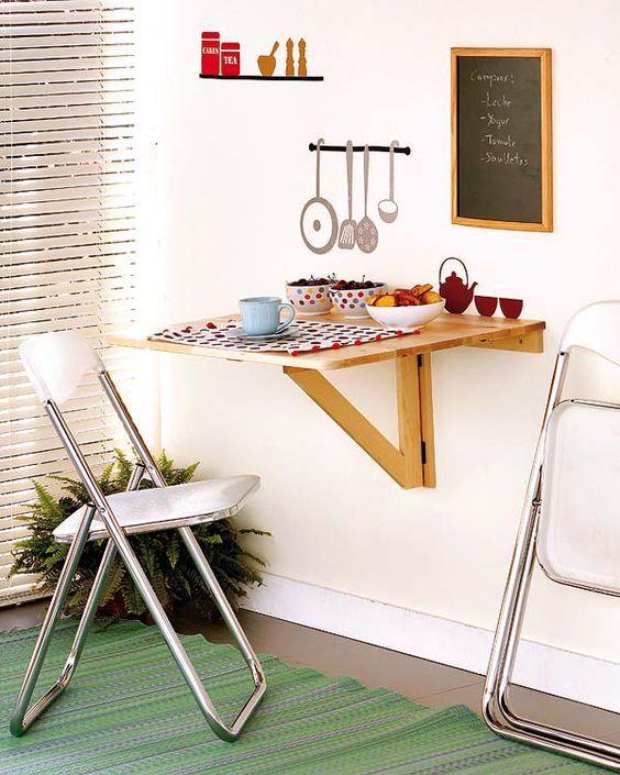 Cómo crear un office en una cocina pequeña