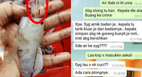 Isteri WhatsApp Suami Bertanyakan Cara Siang Sotong, Apa Yang Suami Balas Buat Ramai Terhibur.