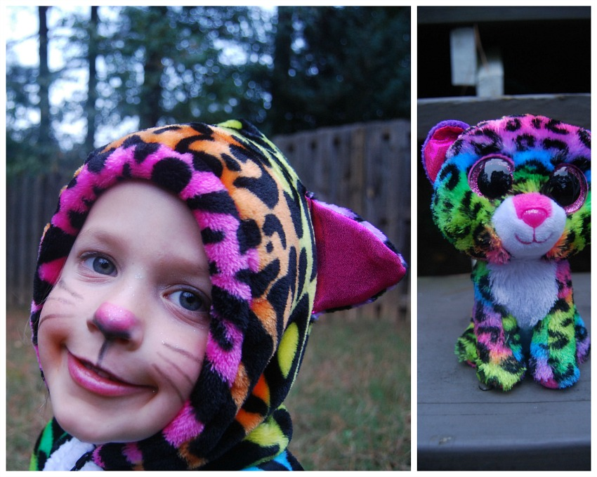 this year jane was a lot more opinionated about what she wanted to be for halloween although the idea to be her rainbow leopard beanie boo came about kind