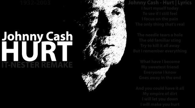 Johnny Cash - Hurt (lyrics)