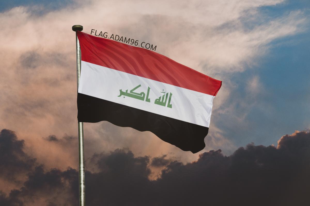 اجمل خلفية علم العراق يرفرف في السماء خلفيات علم العراق 2021