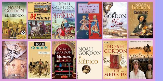 portadas de la novela histórica El médico, de Noah Gordon