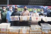 Satreskrim Polres Cilegon Berhasil Gagalkan Penyelundupan Ribuan Ekor Burung asal Lampung