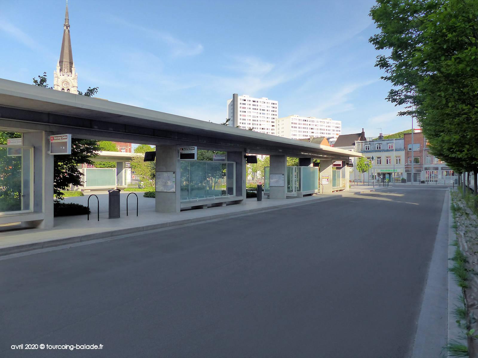 Pôle d'échange Tourcoing, Place Roussel 2020