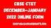 CBSE CTET December-January 2022 Online Form