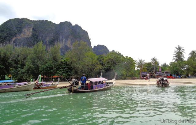 Vista de la playa desde el Long Tail - Railay playa Krabi