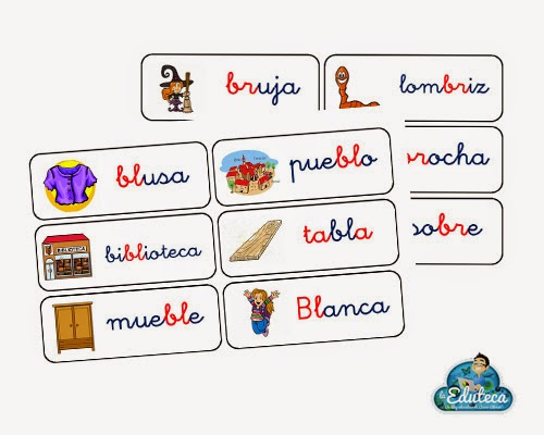 Dibujos Con La Trabada Br: Tarjetas De Vocabulario Trabadas BL