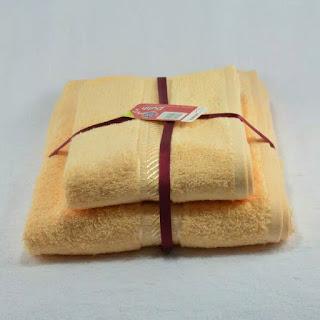 Paket Murah 2 pcs Handuk Merah Putih 2 Ukuran