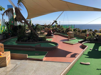 Rooftop Mini Golf in Puerto Del Carmen, Lanzarote. Photo by Brian Butterworth, January 2018