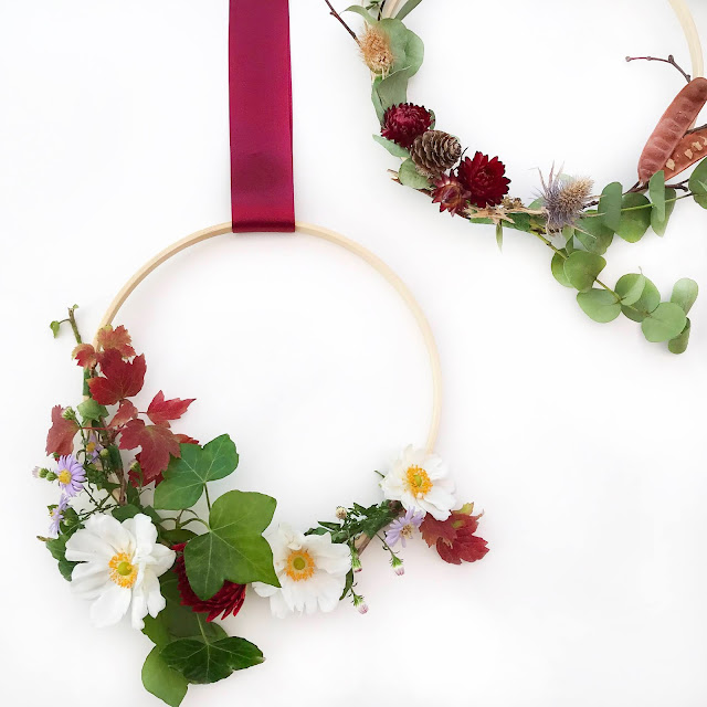 DIY Flower Wreath Autumn Decoration
