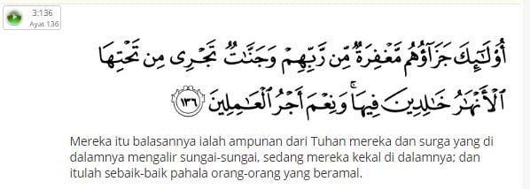Surat Ali Imran 133-136 Tentang idul Fitri, Memaafkan