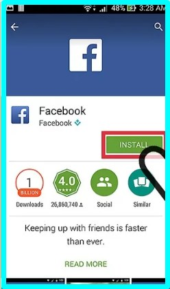 how to install facebook app on android phone