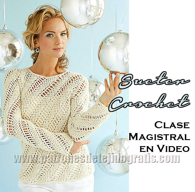 tutorial de sueter crochet