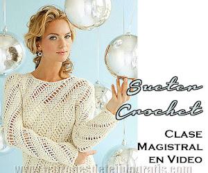 Aprende a Tejer Bellísimo Suéter Crochet / Clase Magistral en Video