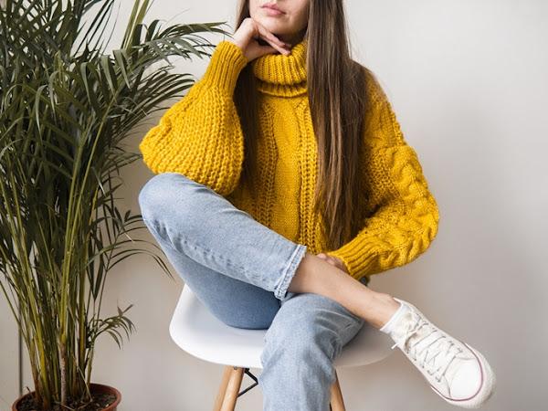 294. Zamówienie z Newchic: żółty sweter, T-shirty i zakolanówki