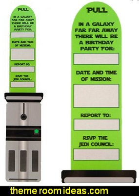Star Wars Inspired Light Saber Party Invitations