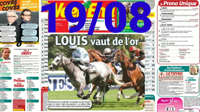 Pronostic quinté+ pmu jeudi Paris-Turf TV-100 % 19/08/2021