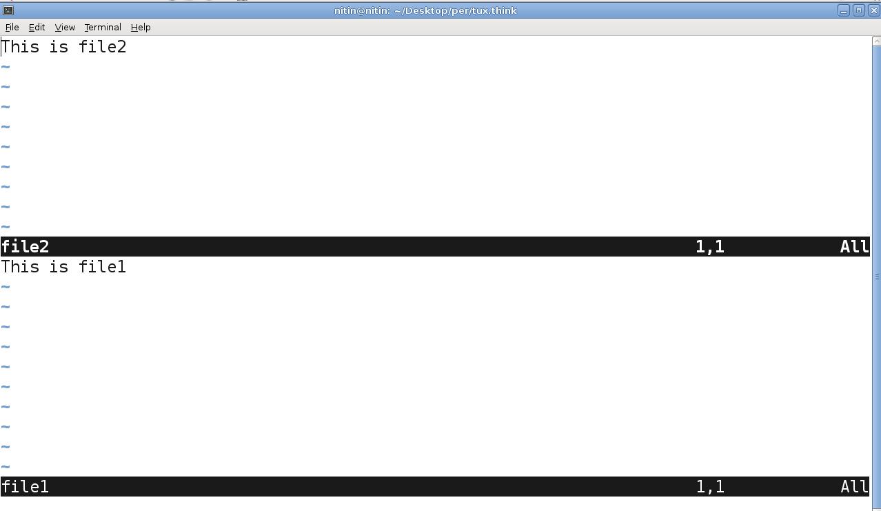 Linux World: Splitting window in VI editor