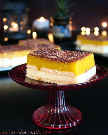 ciasto brzoskwiniowe bez pieczenia