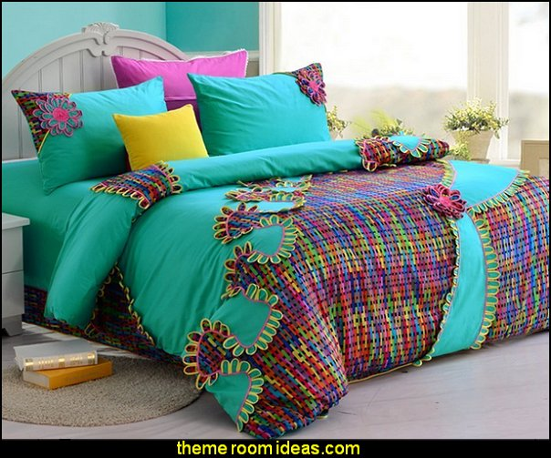 colorful bedding  bedding - funky cool girls bedding - fashion bedding - girls bedding - teens bedding - novelty bedding - duvet covers