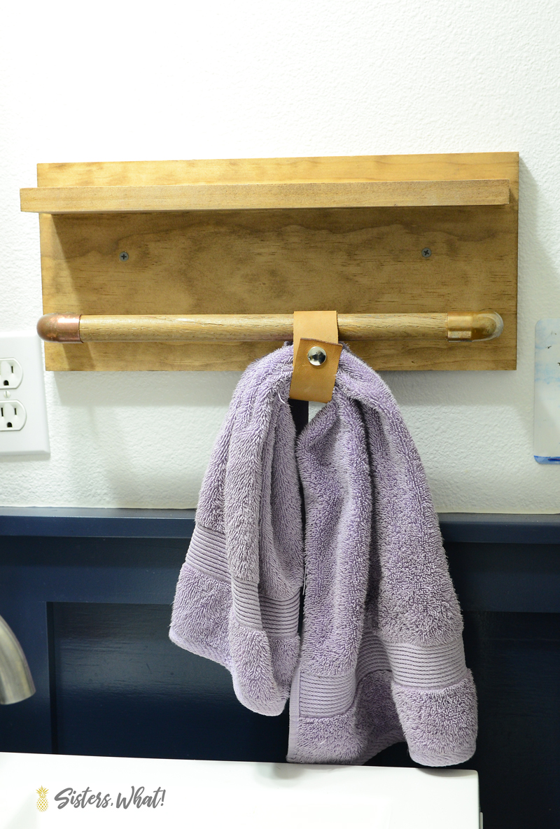 diy bathroom towel hanger