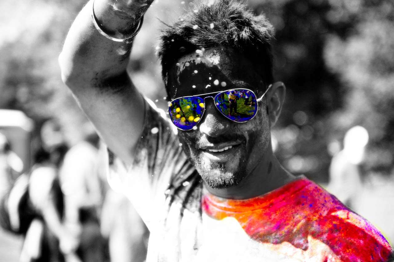 Holi Festival black and white photography with color - II ...